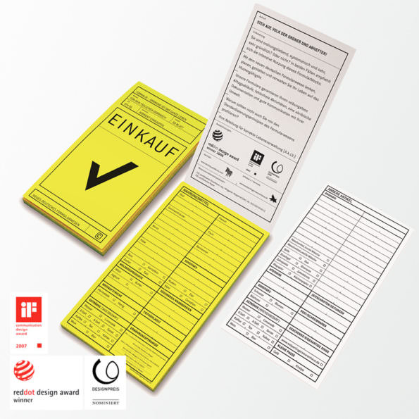 Formularblock »Einkauf«